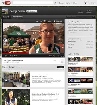 School Spotlight: George School YouTube Channel