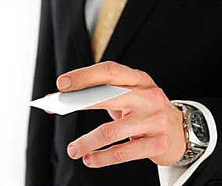 handing-out-business-card