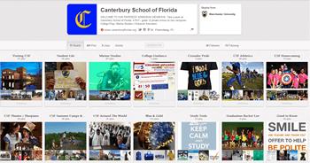 Canterbury School FLA Pinterest page