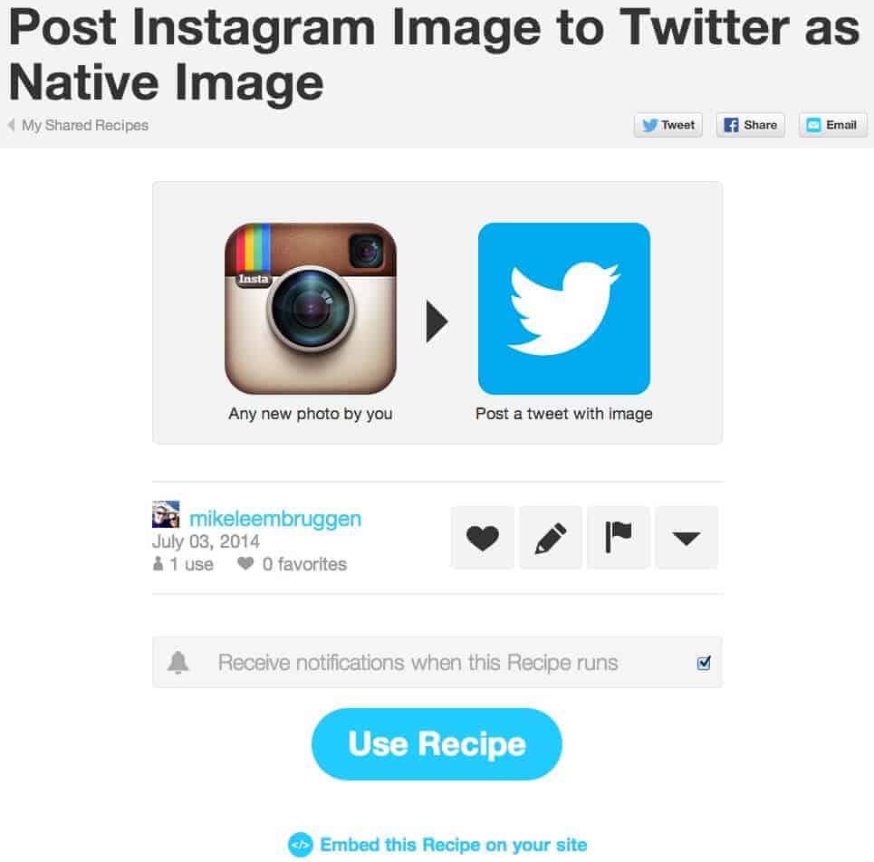 instagramIFTTT