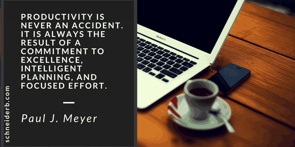 Productivity is Never an Accident