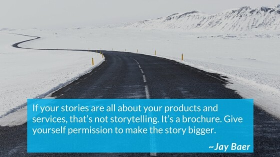 Give yourself permission to make the story bigger