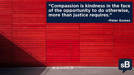 Compassion is kindness in the face of the opportunity to do otherwise