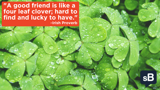 A good friend is like a four leaf clover; hard to find and lucky to have