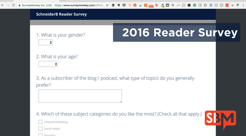 Reader Survey Blog Media