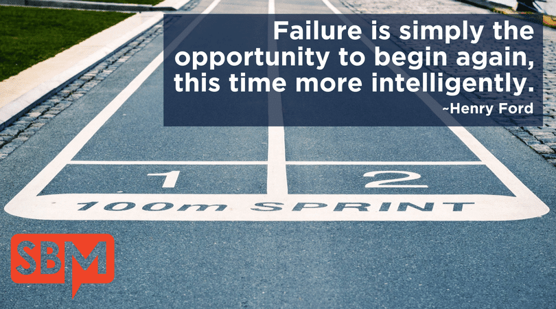 Failure is simply the opportunity to begin again, this time more intelligently