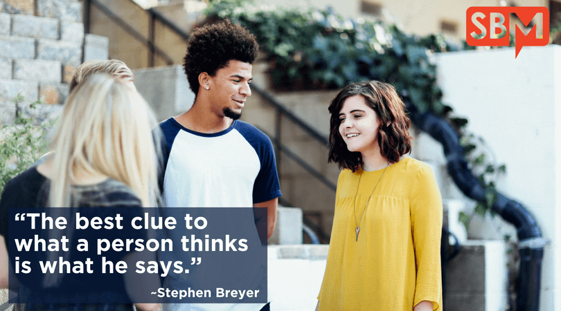 The Best Clue To What A Person Thinks Is What He Says