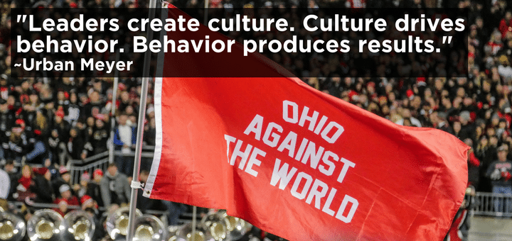 Leaders Create Culture. Culture Drives Behavior. Behavior Produces Results