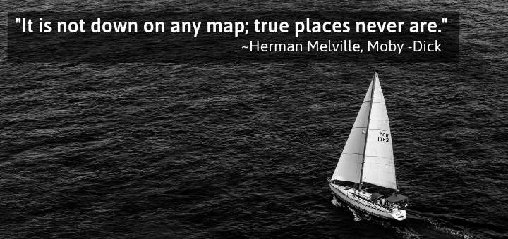 It is not down on any map; true places never are